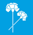 carnation icon white vector image vector image