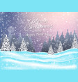christmas and new year landscape background vector image