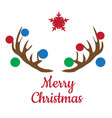 christmas antlers vector image vector image