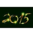 Christmas card with glow green 2015 vector image vector image