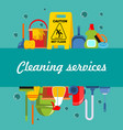 cleaning service flat template vector image vector image