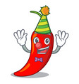 clown red chili pepper isolated on mascot vector image vector image