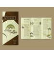 Coffee Brochure Flyer design Layout template vector image vector image