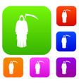 death with scythe set color collection vector image vector image