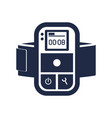 digital audio player isolated icon vector image vector image