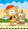 drawing bear vector image vector image