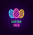 easter sale neon label vector image vector image