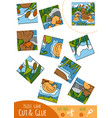education puzzle game for children duck family vector image vector image