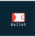 electronic wallet flat design design template vector image vector image