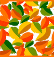falling leaves in seamless pattern vector image vector image