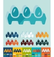 Flat design tray of eggs vector image