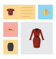 flat icon clothes set of clothes stylish apparel vector image vector image