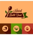 Flat natural food design elements vector image