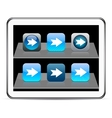 Forward arrow blue app icons vector image