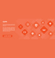 gdpr banner 10 icons conceptdata e-privacy vector image