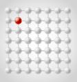 Gray balls vector image vector image