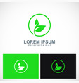 green leaf botany plant logo vector image vector image