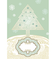 Hand draw ornate christmas tree vector | Price: 1 Credit (USD $1)