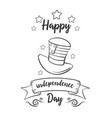 happy independence day card hand draw style vector image vector image