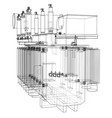 high-voltage transformer concept vector image