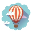 hot air balloon icon in sky vector image
