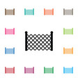 isolated lattice icon gate element can be vector image vector image