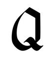 letter q painted brush vector image