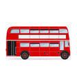 london buses colored silhouette vector image vector image