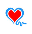 love heart logo icon vector image vector image
