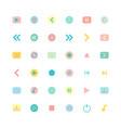 media flat icon set vector image