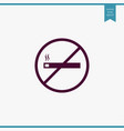 no smoking icon simple vector image