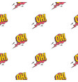 oh comic text speech bubble pattern seamless vector image vector image