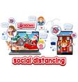 online xmas celebration through mobile device vector image