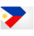 philippines flag design background vector image vector image