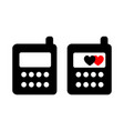phone black color two items vector image