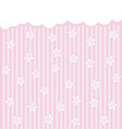 pink background with stars and clouds vector image vector image