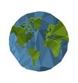 polygon texture earth globe icon vector image vector image