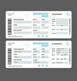 realistic detailed 3d air tickets template set vector image