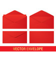 realistic red envelope mockups vector image vector image