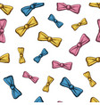 seamless pattern bow tie for men or hipster vector image