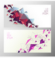 set of book cover templates with polygonal shapes vector image vector image
