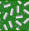 silver drink can seamless pattern vector image