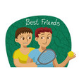 smiling gay male couple vector image