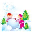 snow friends vector image vector image
