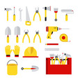 stock set isolated icons vector image