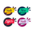 stylish sale and offers labels set vector image vector image