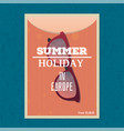 summer holiday banner vector image