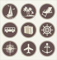 Summer travel icons vector image