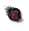 super sale banner geometric round creative banner vector image