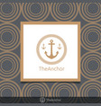 three anchor emblem with circular rope in frame vector image vector image